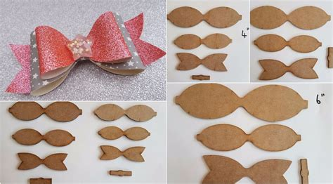 leather bow template wooden hair bow templates to make your own glitter fabric leather hair bows ebay