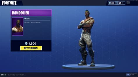 fortnite bandolier added  item shop