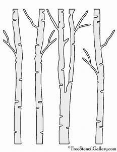 Birch, Tree, Stencil