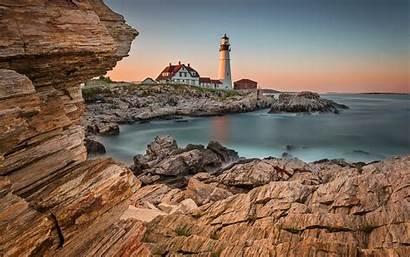 Lighthouse Desktop Definition Seashore Rocky Sea Rocks