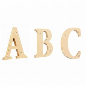 quotrivenelle alphabetsquot 4 inch polished brass letters With 2 brass letters