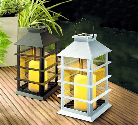 Moderne Solar Laterne Glas Laterne Wetterfest Garten Real