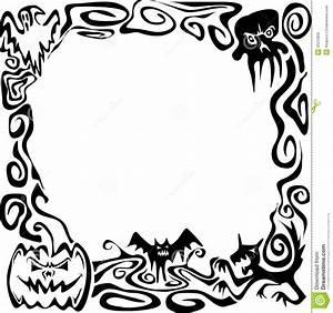 Black And White Halloween Border Clip Art | Clipart Panda ...