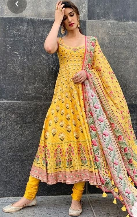 haldi special anarkali salwar suit   dress indian