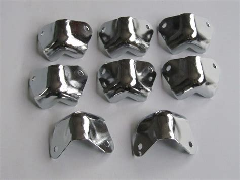 speaker cabinet corners 8pcs metal chrome 2 leg no lipped guitar speaker