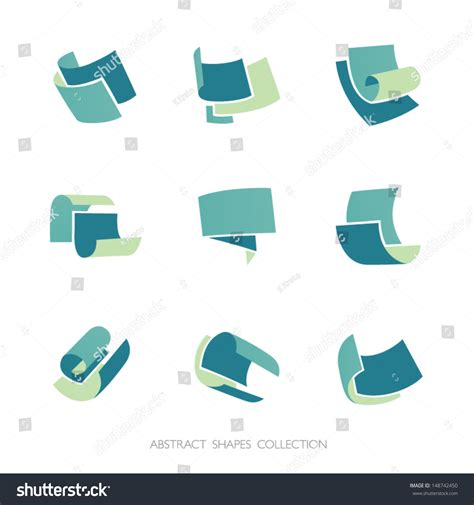 Abstract Shapes Collection by Abstract Shapes Collection Set 3color Vector Stock Vector