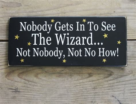 wizard wood sign  office
