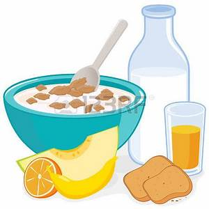 Breakfast clipart cereal bowl - Pencil and in color ...