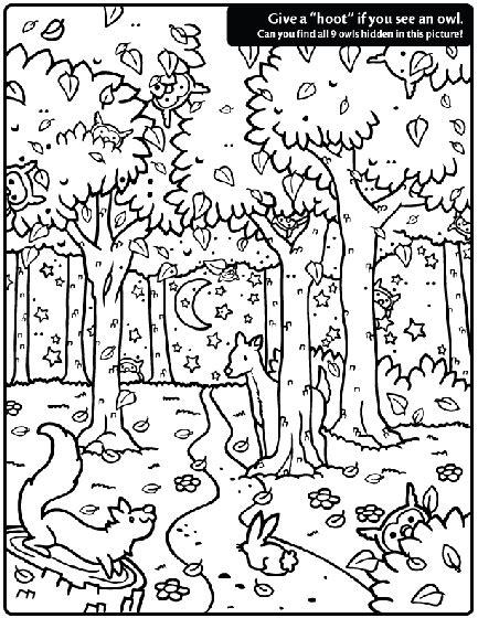 Kleurplaat Deir by Owl Find Coloring Page Crayola