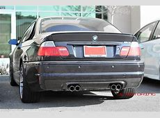 BMW E46 M3 CSL Style Carbon Fiber Rear Diffuser