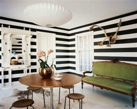 black  white stripes    english room