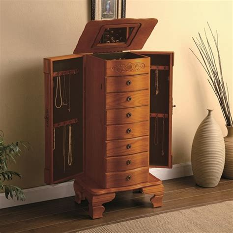 brown wood jewelry armoire steal  sofa furniture outlet los angeles ca