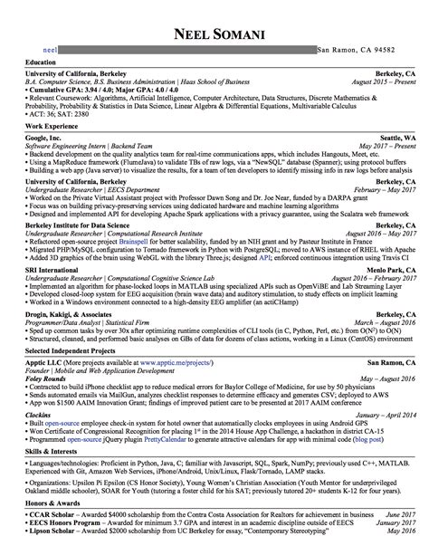 How To Craft A Winning Resume (& Land An Offer From Google
