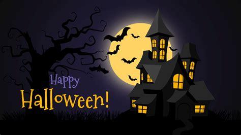 scary halloween background design template slidemodel