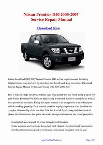 Nissan Frontier D40 2005-2007 Service Repair Manual By Hong Lii