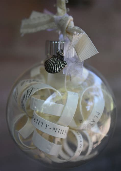 christy wedding invitation ornament