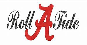 Alabama Elephant Embroidery Design Alabama A Roll Tide Embroidery Design Pes And Jef Format