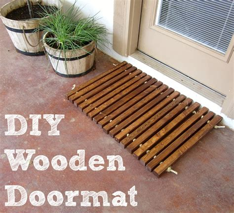 wooden welcome mat domestic imperfection