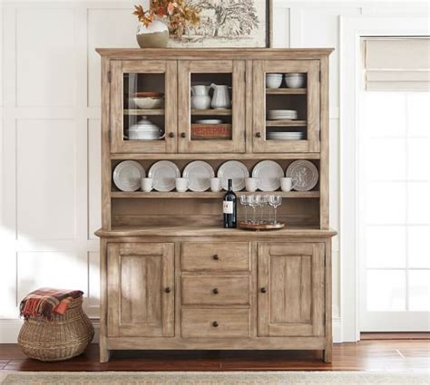 Buffets With Hutch - benchwright buffet hutch pottery barn