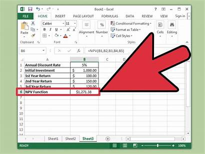 Excel Npv Calculate Steps Wikihow Step