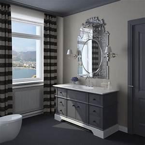 salle de bain grise 65 idees du gris taupe a l39ardoise With salle de bain taupe et gris