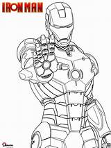 Iron Coloring Disegni Colorare Ironman Marvel Mano Printable Cartoon Disegno Avengers Palmo Sparare Sheet Della Desenhos Ausmalbilder Pronto Mark Homem sketch template
