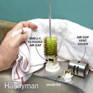 water  coming    air gap  family handyman