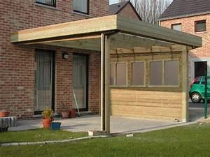 Construire Un Carport : garage bois toit plat garage toit plat en bois massif m ~ Premium-room.com Idées de Décoration