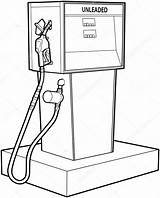 Gas Pump Petrol Drawing Coloring Sketch Line Stove Pages Template Premium Depositphotos Vector Getdrawings Freeimages sketch template