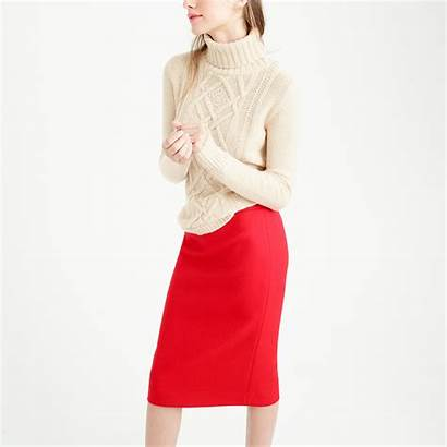 Skirt Pencil Crew Wool Serge Double Supergirl