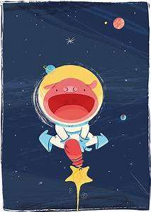 Space piggy #childrensillustration #children #illustration ...