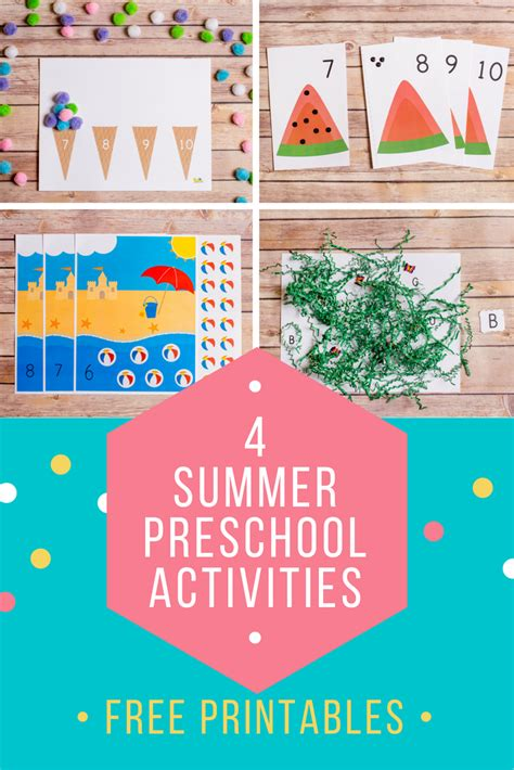 summer activities for toddlers and preschoolers 4 summer preschool printables for toddler amp preschoolers 972