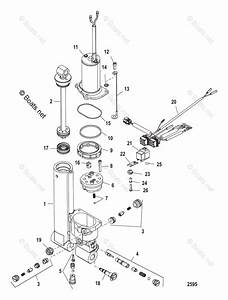 Mercury Mercury  U0026 Mariner Outboard Parts By Hp  U0026 Liter 25hp Oem Parts Diagram For Power Trim