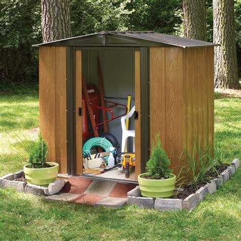 abri de jardin metallique imitation bois 3m2 bouvara bm65