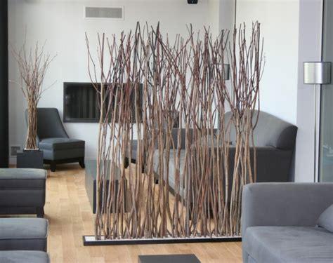 Paravent branches bois flotté Déco loft