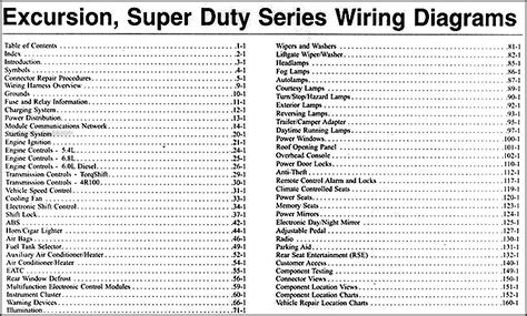 ford excursion super duty   wiring diagram