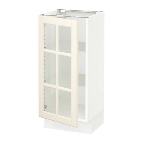 kitchen base cabinets with glass doors sektion base cabinet with glass door white bodbyn off