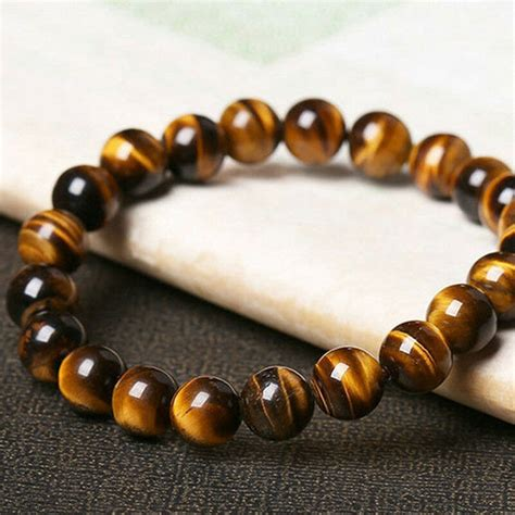 Natural Tiger Eye Stone Beads Men Jewelry Bracelet