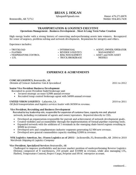 Resume Logistics Operations Manager by The World S Catalog Of Ideas
