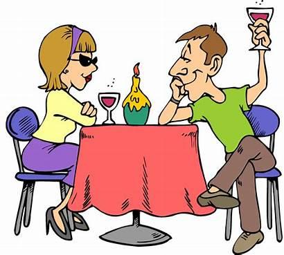Clipart Dinner Table Night Enjoy