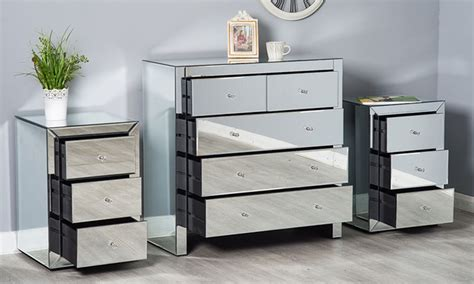 Deals On Bedroom Sets by Mirrored Bedroom Furniture Sets Groupon Goods