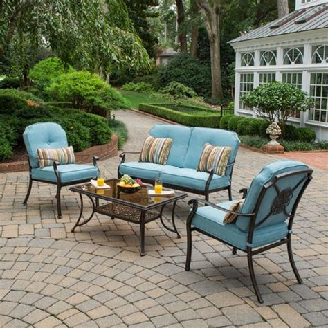 better homes and gardens patio furniture better homes and gardens bellerive park 4 piece patio conversation set seats 4 patio furniture