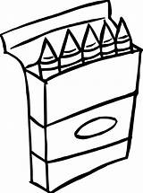 Crayon Clipart Box Coloring Crayons Pages Clipartmag Cliparts Clipground sketch template
