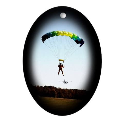 skydiving christmas oval ornament by freestylefotoz