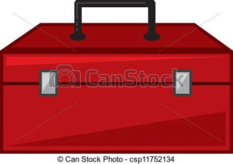 Toolbox Isolated Red Toolbox Cartoon Closed