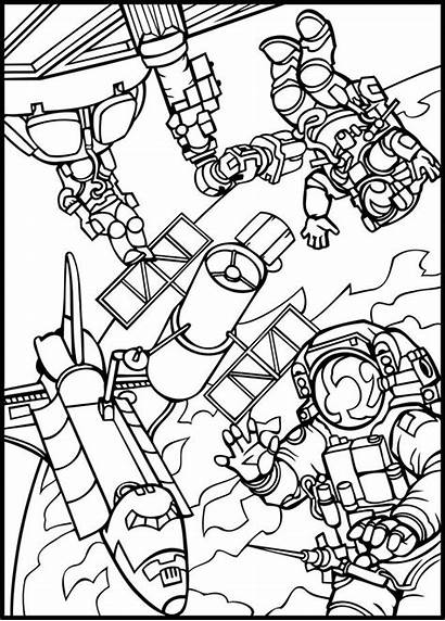 Space Coloring Pages Lego Outer Printable Getcolorings