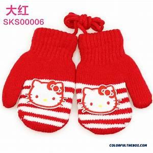 Cheap Hellokitty Kids Warm Winter Gloves Baby Kids Gloves ...