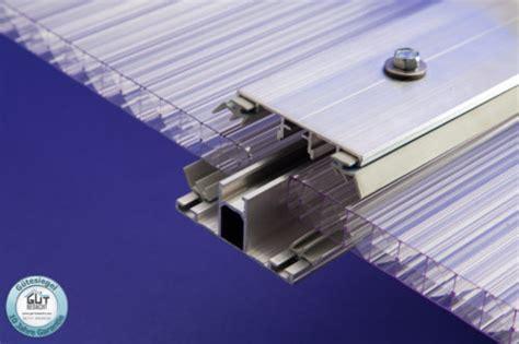 Wandanschlussprofil Aluminium Inkl. Gummidichtung Für Stegplatten