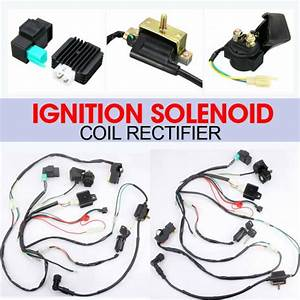 Wiring Harness Loom Solenoid Coil Cdi For 50cc 110cc 125cc