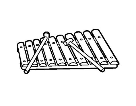 xylophone coloring sheet coloring pages